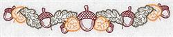 Acorn Border embroidery design