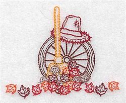 Fall Leaf Scene embroidery design