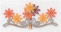Fall Flowers embroidery design