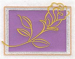 Rose Applique embroidery design