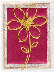 Daisy  Applique embroidery design