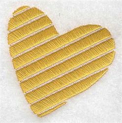 Stripe Heart embroidery design