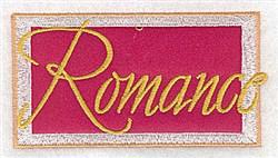 Romance  Applique embroidery design
