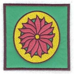 O Applique embroidery design