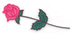 Single Rose embroidery design