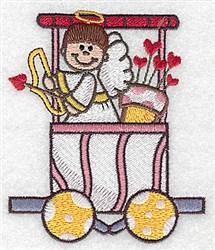 Cupid Train Car embroidery design
