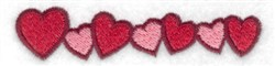 Row Of Hearts embroidery design