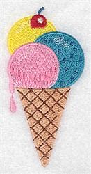 Ice Cream Cone embroidery design