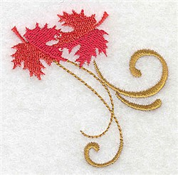 Victorian Fall Leaves embroidery design