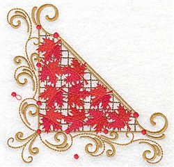 Victorian Fall Leaves Corner embroidery design