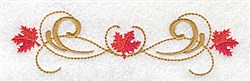 Victorian Fall Leaves Border embroidery design