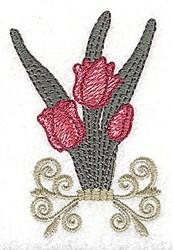 Tulips Swirls embroidery design
