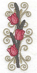 Tulip Swirls embroidery design