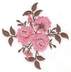 Rose Trio embroidery design