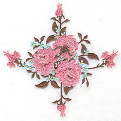 Roses And  Buds embroidery design