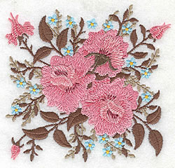 Roses And Bloosoms embroidery design