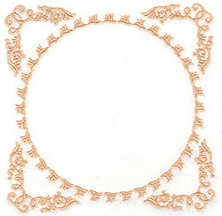Frame And Circle embroidery design