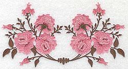 Double Rose Design embroidery design