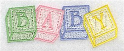 Baby Blocks small embroidery design