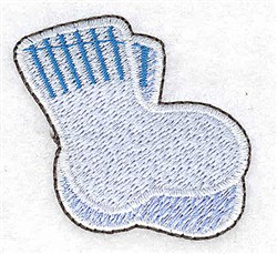 Boy Baby Booties embroidery design