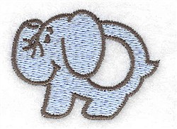 Elephant Teething Ring embroidery design