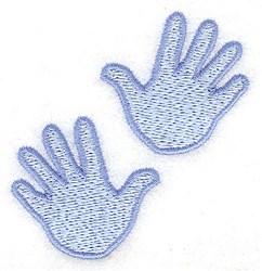 Large Boy Handprint embroidery design