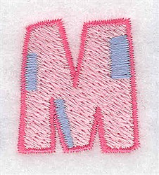 Baby Alphabet M embroidery design