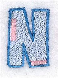 Baby Alphabet N embroidery design