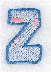 Baby Alphabet Z embroidery design