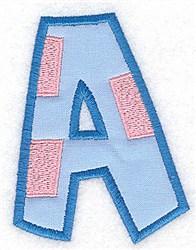 Applique Baby Alphabet A embroidery design