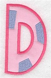 Applique Baby Alphabet D embroidery design