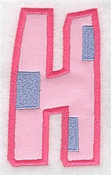 Applique Baby Alphabet H embroidery design