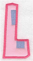 Applique Baby Alphabet L embroidery design