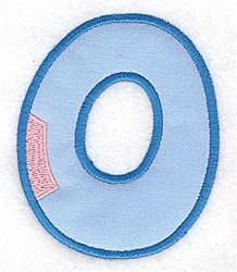 Applique Baby Alphabet O embroidery design