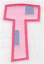 Applique Baby Alphabet T embroidery design