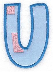 Applique Baby Alphabet U embroidery design