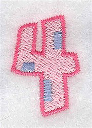 Baby Number 4 embroidery design