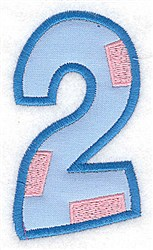 Applique Baby Number 2 embroidery design