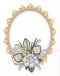 Lily Frame embroidery design
