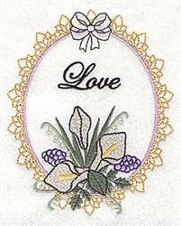 Love Frame embroidery design