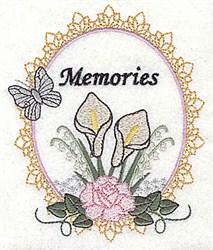 Memories Frame embroidery design