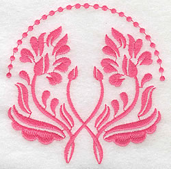 Double Blooms embroidery design