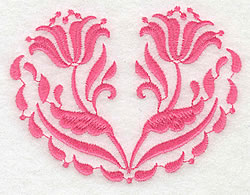 Floral Twins embroidery design