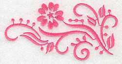 Swirling Flower embroidery design