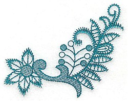 Stylized Flower embroidery design