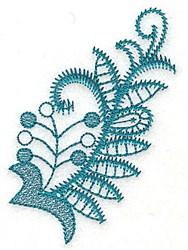 Leaves and Berries embroidery design