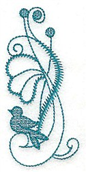 Flower And Bird embroidery design