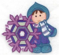 Child & Snowflake embroidery design