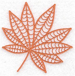 Buckeye Leaf embroidery design