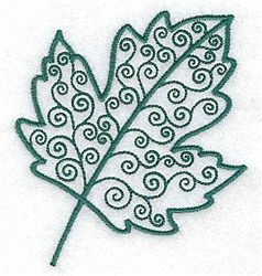 Silver Maple Leaf embroidery design